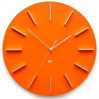 Dizajnové nástenné hodiny Future Time FT2010OR Round orange 40cm