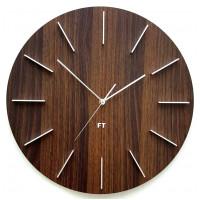 Dizajnové nástenné hodiny Future Time FT2010WE Round dark natural brown 40cm