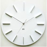 Dizajnové nástenné hodiny Future Time FT2010WH Round white 40cm