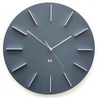 Dizajnové nástenné hodiny Future Time FT2010GY Round grey 40cm