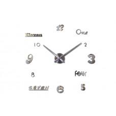 3D Nalepovacie hodiny DIY Clock Cladding XL006SL, Mirror 120cm