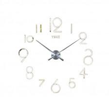 3D Nalepovacie hodiny DIY Clock Evevo 8280XL, Silver 90-130cm