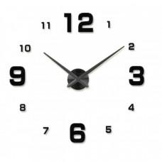 3D Nalepovacie hodiny Clock BIG 3-12 L, čierne 80-130cm