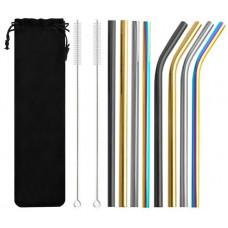 Farebné kovové slamky Isot 8654, 8 ks