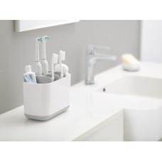 Stojan na kefky Joseph Joseph easyStore ™ Toothbrush Caddy veľký, biely, šedý