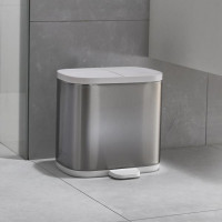Dvojitý odpadkový kôš JOSEPH JOSEPH Bathroom Split ™ Steel
