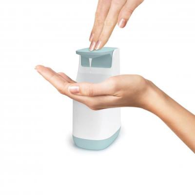 Dávkovač tekutého mydla Joseph Joseph Slim ™ Soap Pump, 350ml modrý