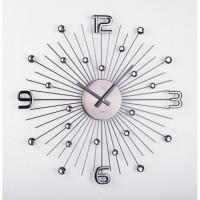 Crystal nástenné hodiny JVD HT074.2 -antracit, 49 cm