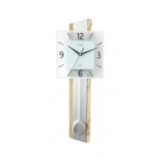 Drevené kyvadlové hodiny JVD NS19030.1 s plynulým chodom, 63,5 cm