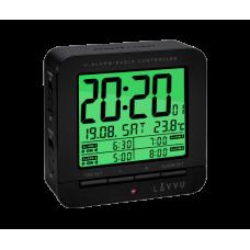 Digitálny budík riadený rádiovým signálom LAVVU LAR0010 black cube