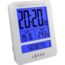 Digitálny budík riadený rádiovým signálom LAVVU LAR0020 Duo White,