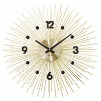 Nástenné hodiny LAVVU LCT1141 CRYSTAL Lines Zlaté, 49 cm