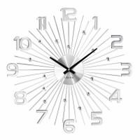Nástenné hodiny LAVVU LCT1150 CRYSTAL Sun Strieborné, 49 cm