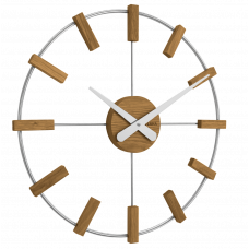 Drevené strieborné hodiny Vlaha VCT1061, 50 cm