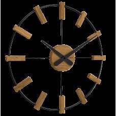 Drevené čierne hodiny Vlaha VCT1062, 50 cm