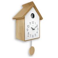 Drevené kukučkové hodiny so svetelným senzorom LAVVU CUCKOO LCT4021