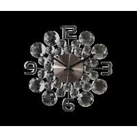 Nástenné hodiny LAVVU LCT1031 CRYSTAL Jewel, Antracit, 34 cm