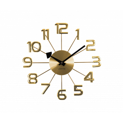 Nástenné hodiny LAVVU LCT1041 DESIGN Numerals, zlaté, 37cm