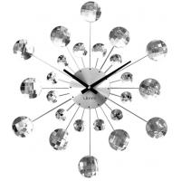 Nástenné hodiny LAVVU LCT1080 CRYSTAL Sunlight Strieborné, 49 cm