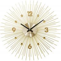 Nástenné hodiny LAVVU LCT1142 CRYSTAL Lines Zlaté, 49 cm