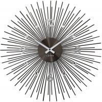 Nástenné hodiny LAVVU LCT1143 CRYSTAL Lines antracitové, 49 cm