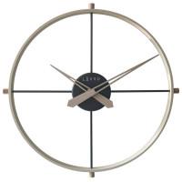 Štýlové svetlé drevené hodiny LAVVU LOFT v industriálnom vzhľade LCT4080