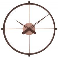 Štýlové tmavé drevené hodiny LAVVU LOFT v industriálnom vzhľade LCT4081