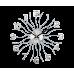 Nástenné hodiny LAVVU Sun LCT1220 strieborné, 49 cm