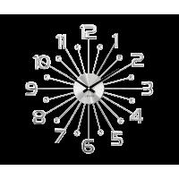 Nástenné hodiny LAVVU Sun LCT1230 strieborné, 49 cm