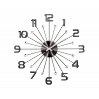 Nástenné hodiny LAVVU Sun LCT1232 antracit, 49 cm