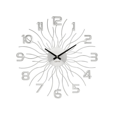 Nástenné hodiny LAVVU Sun LCT1240 strieborné, 49 cm