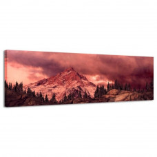 Obraz na plátne Panoráma, Rocky Mountain , 116x36cm