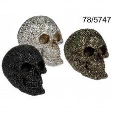 Pokladnička perlová lebka, 16cm, KEM747