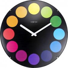 Dizajnové nástenné hodiny 3167 Nextime Dots Dome 35cm