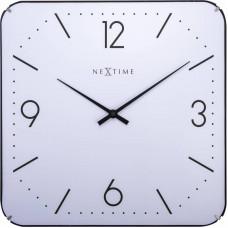 Dizajnové nástenné hodiny 3174 Nextime Square Dome 35cm