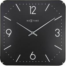 Dizajnové nástenné hodiny 3175 Nextime Square Dome 35cm