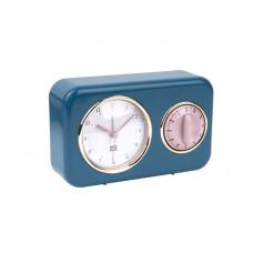 Kuchynské hodiny s časovačom Present Time Nostalgia, PT2970BL, 17cm