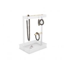Držiak šperkov Jewellery Square, kovový biely, PT3347WH