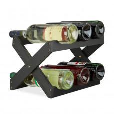 Bambusový stojan na víno X shape čierny, RD2760