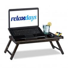 Stolík na notebook do postele Bambusový hnedý, RD3255