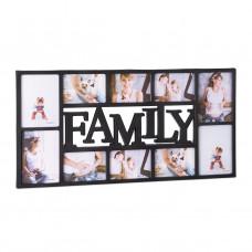 Fotorám Family na 10 fotiek, čierny RD1854, 72x36cm
