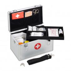 Kufor prvej pomoci, Aluminium, strieborný rd6307