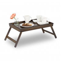Stolík na raňajky do postele, Bamboo/ tmavohnedý RD3235