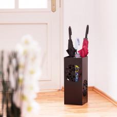Stojan na dáždniky Ornament, čierny RD0141