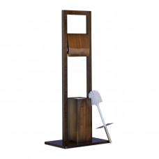 WC stojan Bamboo, tmavohnedý RD0930