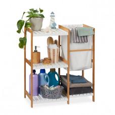 Bambusový regál do kúpeľne s košom na bielizeň RD7503