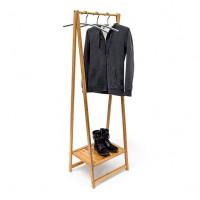 Bambusový stojan na oblečenie so stojanom na topánky RD9033