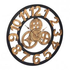 Nástenné hodiny XL s ozubenými kolieskami RD3274, 80 cm, zlaté