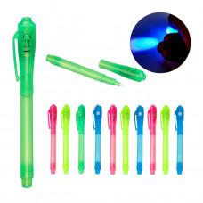 Pero s neviditeľným atramentom + UV svetlo 12ks