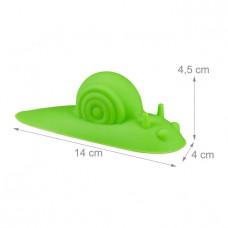Zarážka na dvere slimák, sada 4 kusy, zelená RD0169